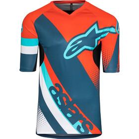 Alpinestars Racer Jersey korte mouwen Heren, energy orange/poseidon blue